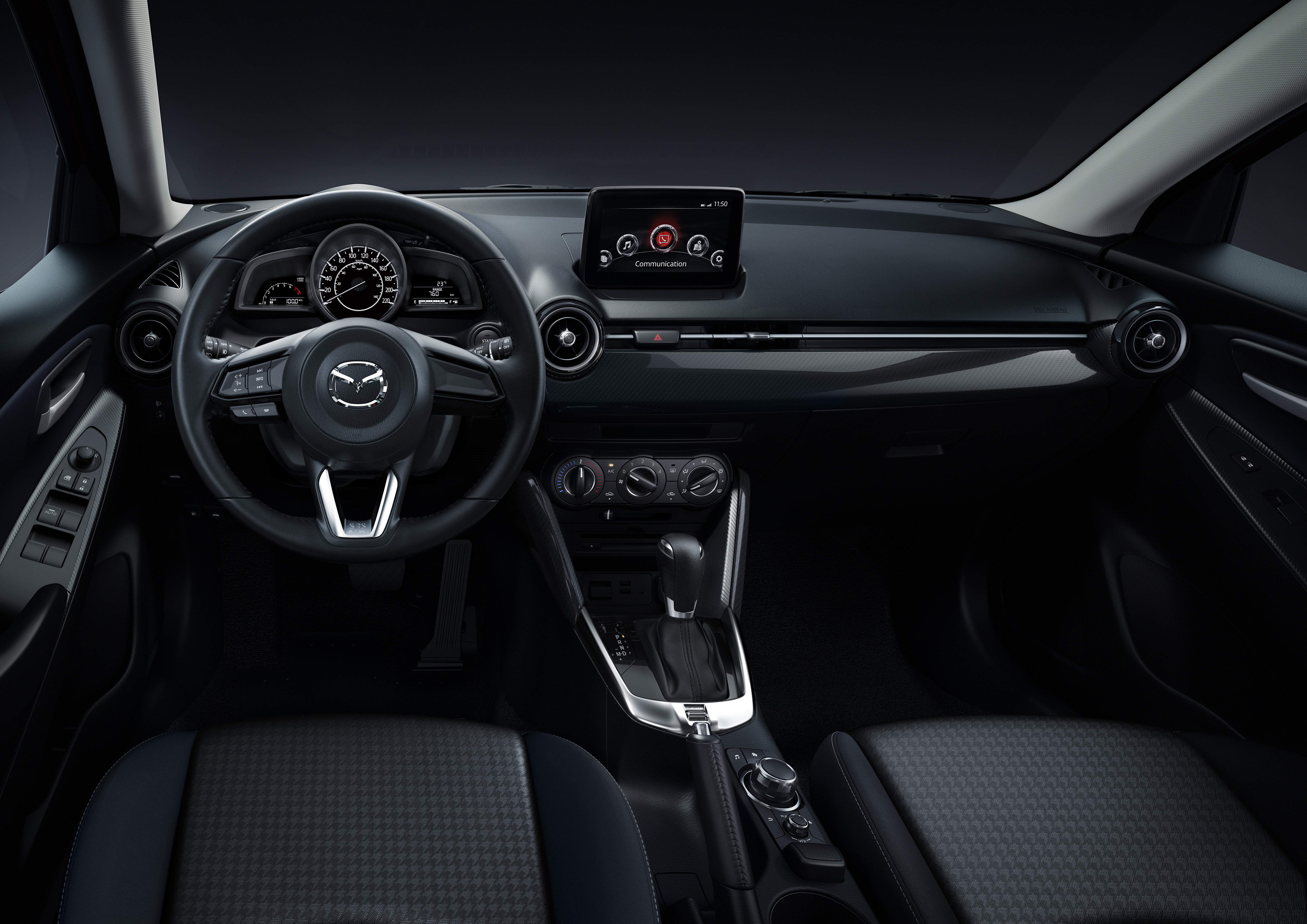 Mazda2 Black Leather Black Suede
